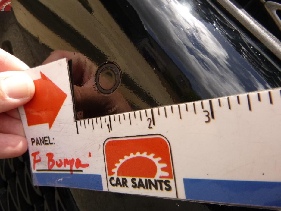 Front bumper repainted