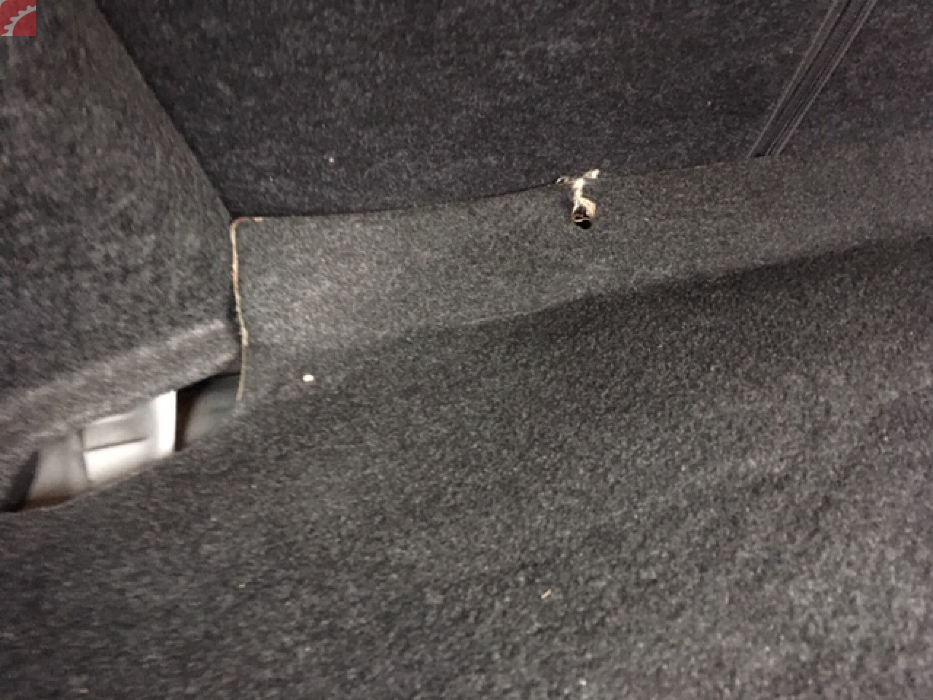 TRUNK CARPET DAMAGED