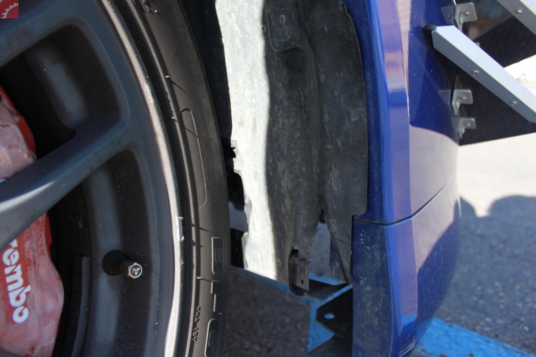 Right Fender Liner Damaged