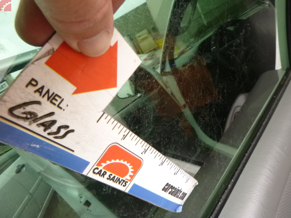 left rear window tint damaged