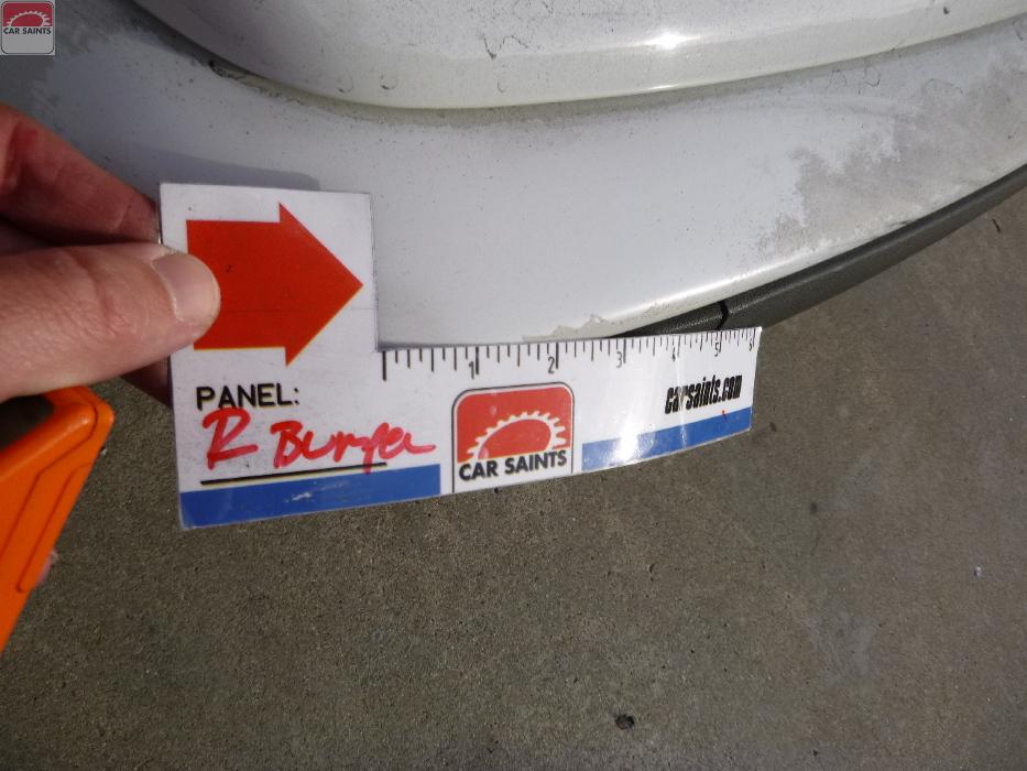 rear bumper clear coat peeling