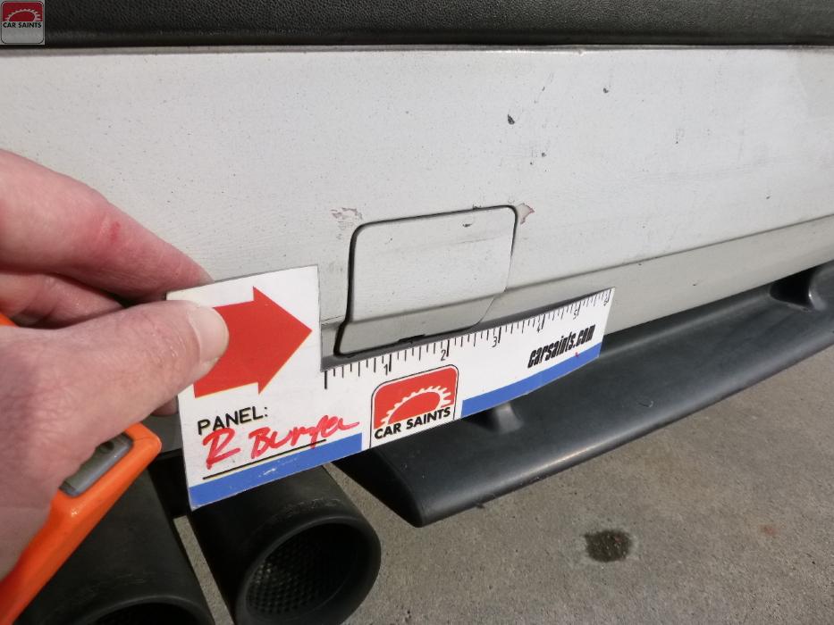 rear bumper scratches