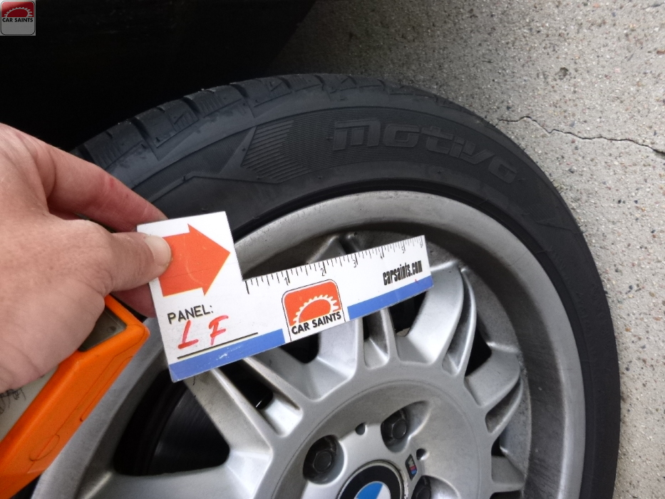 left front tire mismatched brand from rear tires