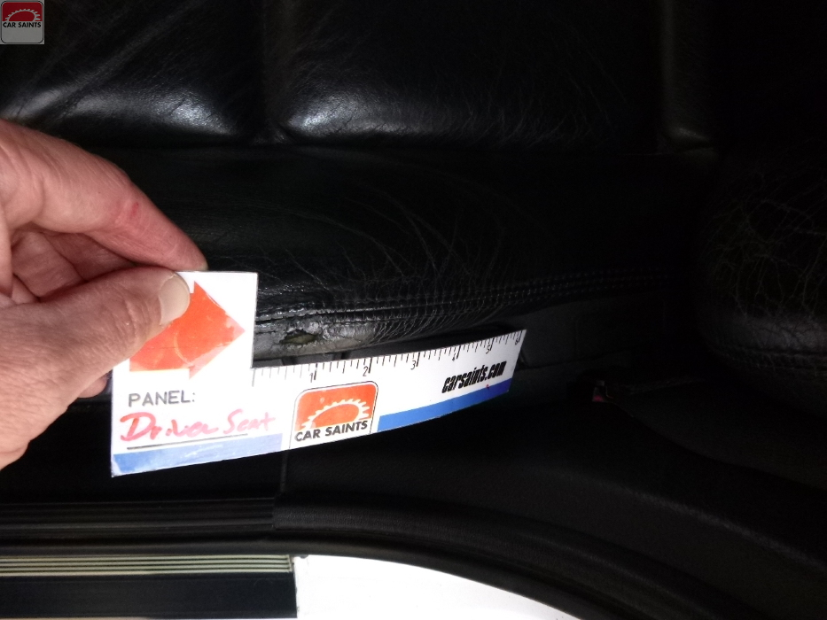 driver seat bolster worn