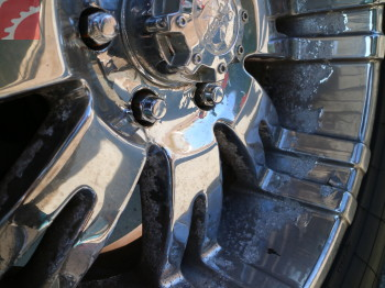 CHROME ON WHEELS FLAKING, PITTED
