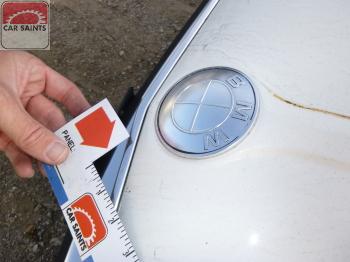 hood emblem paint missing