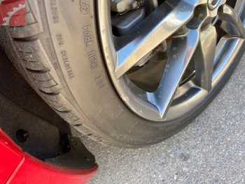 LEFT FRONT WHEEL SCRATCHED