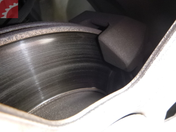 brake rotors glazed, pads low