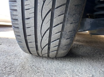 Left rear tire wear uneven