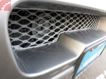 PAINT OVERSPRAY ON BUMPER GRILL