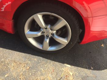 LEFT REAR WHEEL W/ CURB RASH