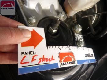 left front shock leaking