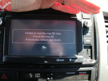 NAVIGATION CARD MISSING