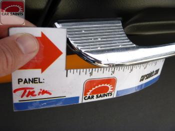 Chrome trim pitted