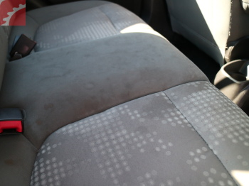 SEAT FABRIC STAINED